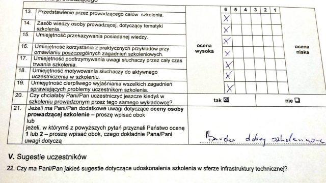 Pół roku bez etatu - ocena jednego z uczestników szkolenia